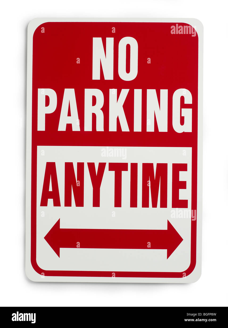 No Parking Anytime Sign - Stock Image