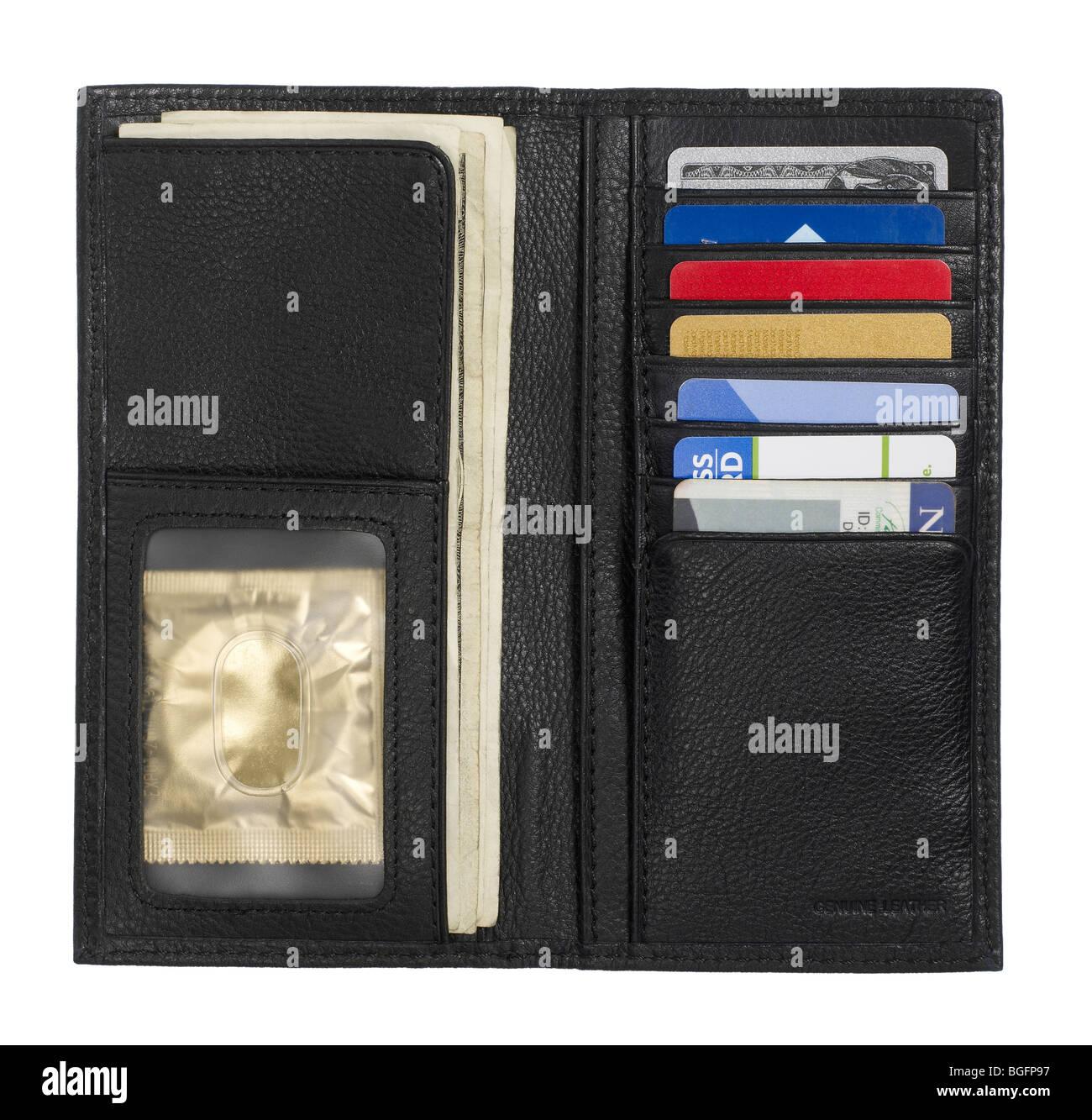 Billfold credit card holder wallet - Stock Image