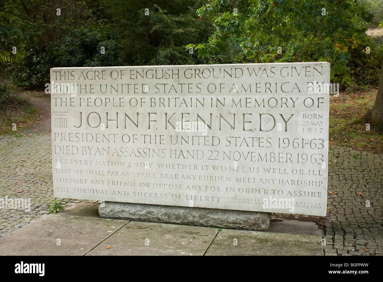 Kennedy Memorial, Runnymede, Berkshire - Stock Image