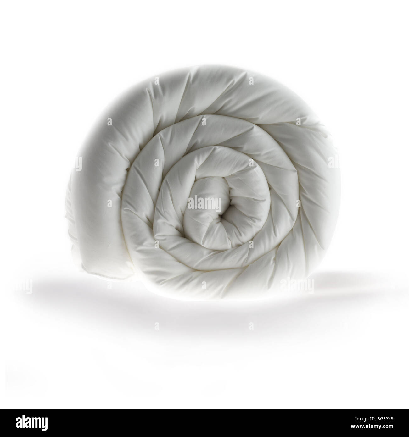 Rolled up duvet - Stock Image