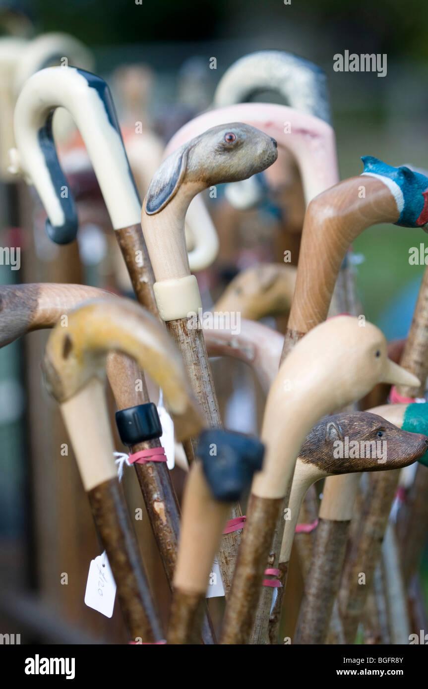 walking sticks for sale - Stock Image