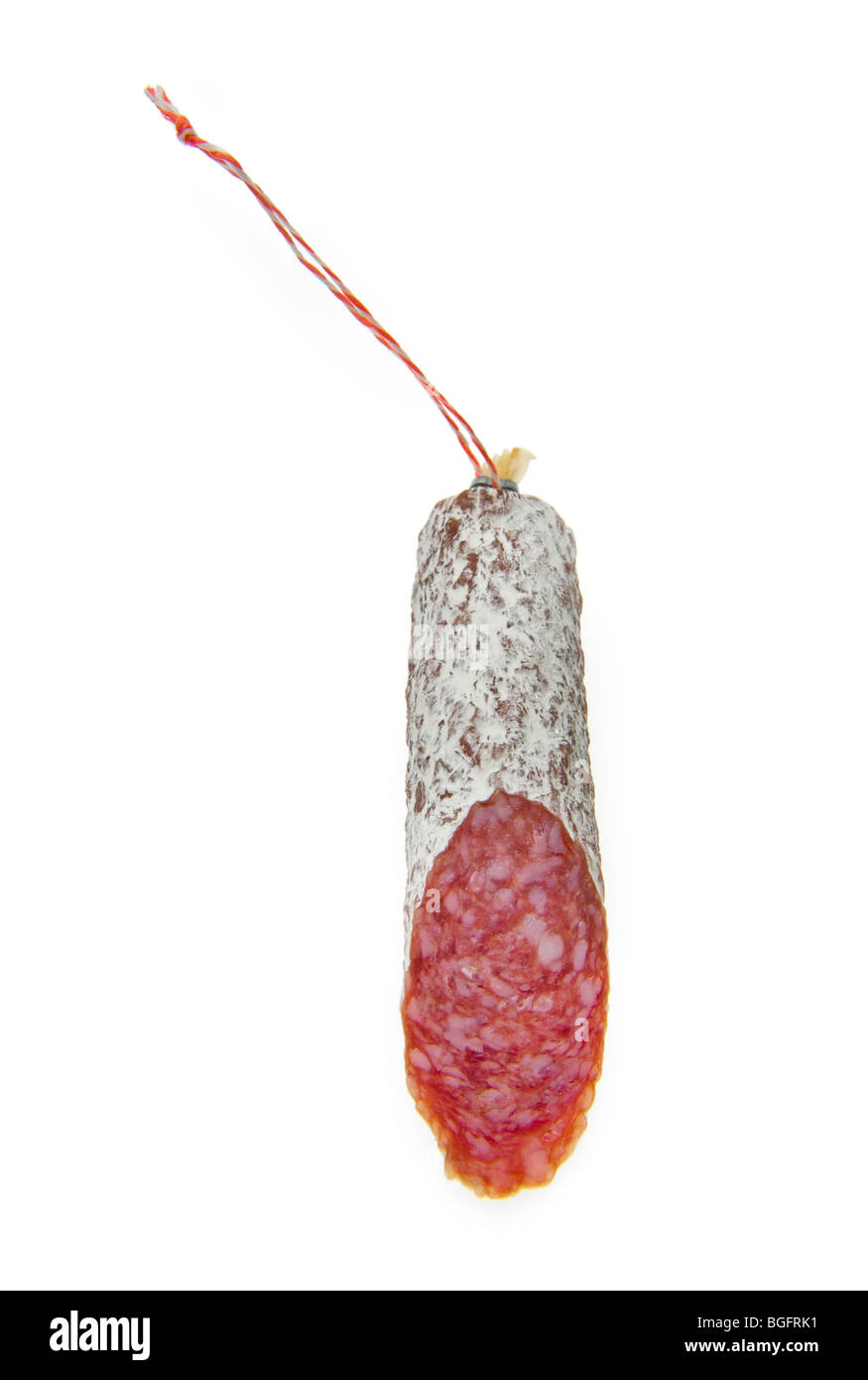 chorizo salami sausage spain traditional speciality  food  MILDEW  cuisine, cookery, cooking, health, healthy, orga - Stock Image