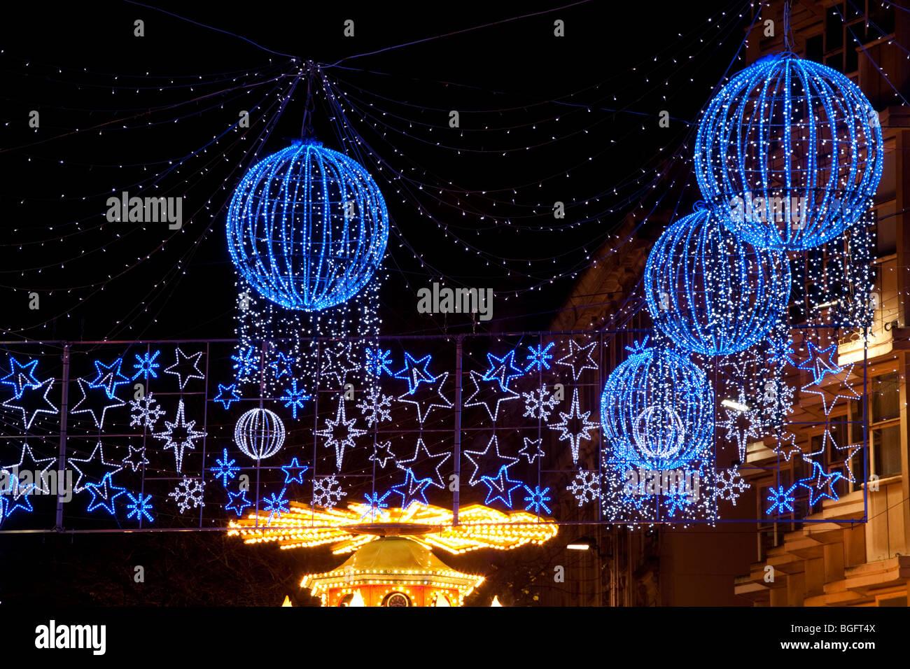 Birmingham Christmas Lights.Christmas Lights Birmingham Stock Photo 27393098 Alamy