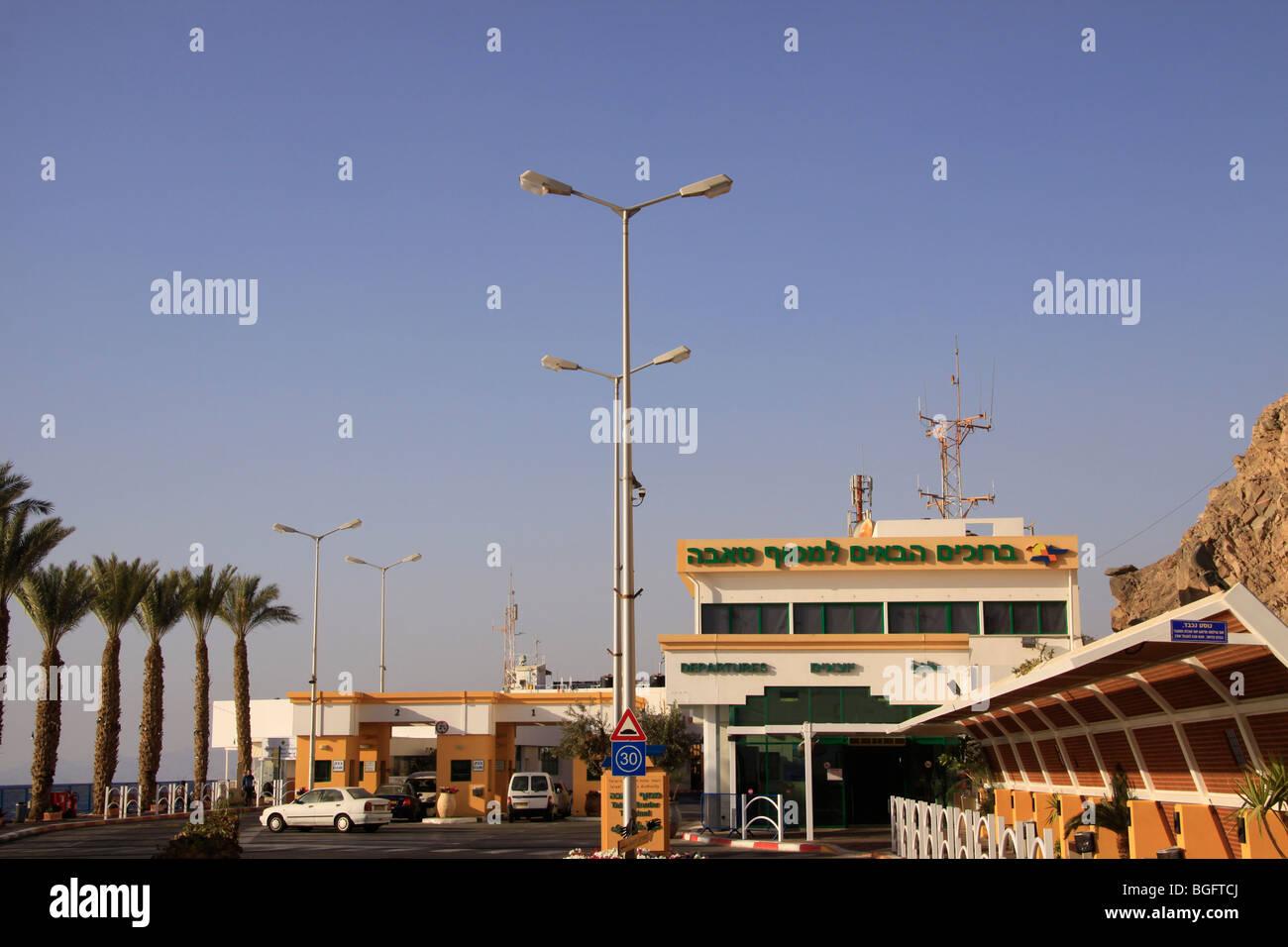 Israel, the Israeli-Egyptian border, the Taba terminal - Stock Image