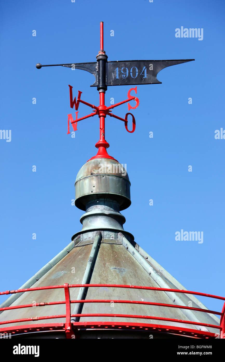 wind direction indicator, Kap Arkona, museum, island of ruegen, germany - Stock Image