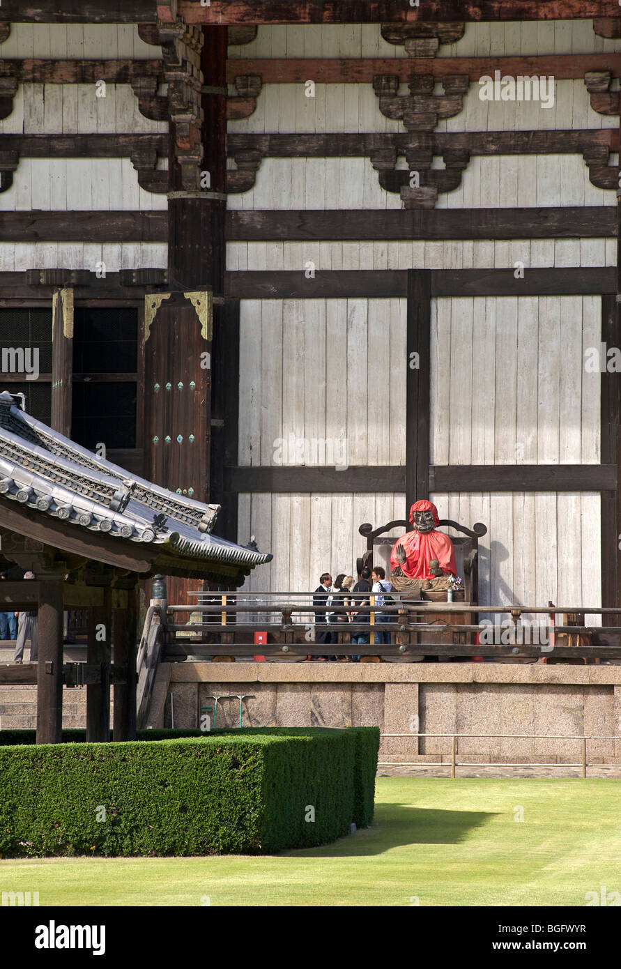 Todaiji temple and garden, Nara, Japan - Stock Image