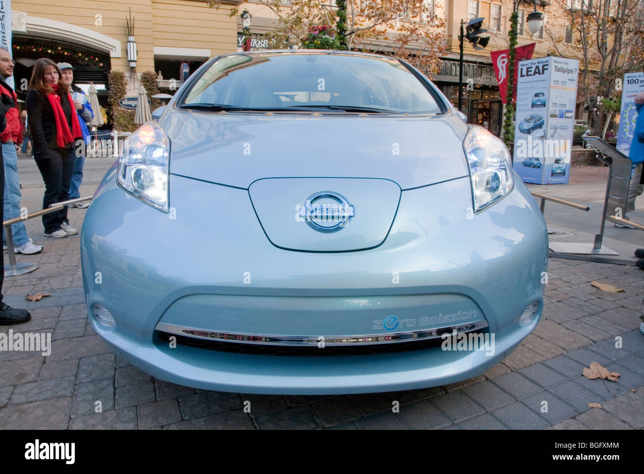 Nissan Leaf Zero Emission Tour Promotional Event. Santana Row, San Jose,  California, USA, 12/5/09