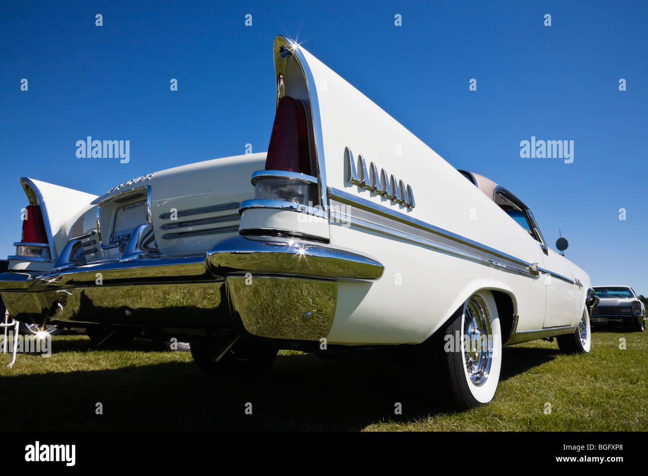 Rear view at a old Chrysler - Stock Image