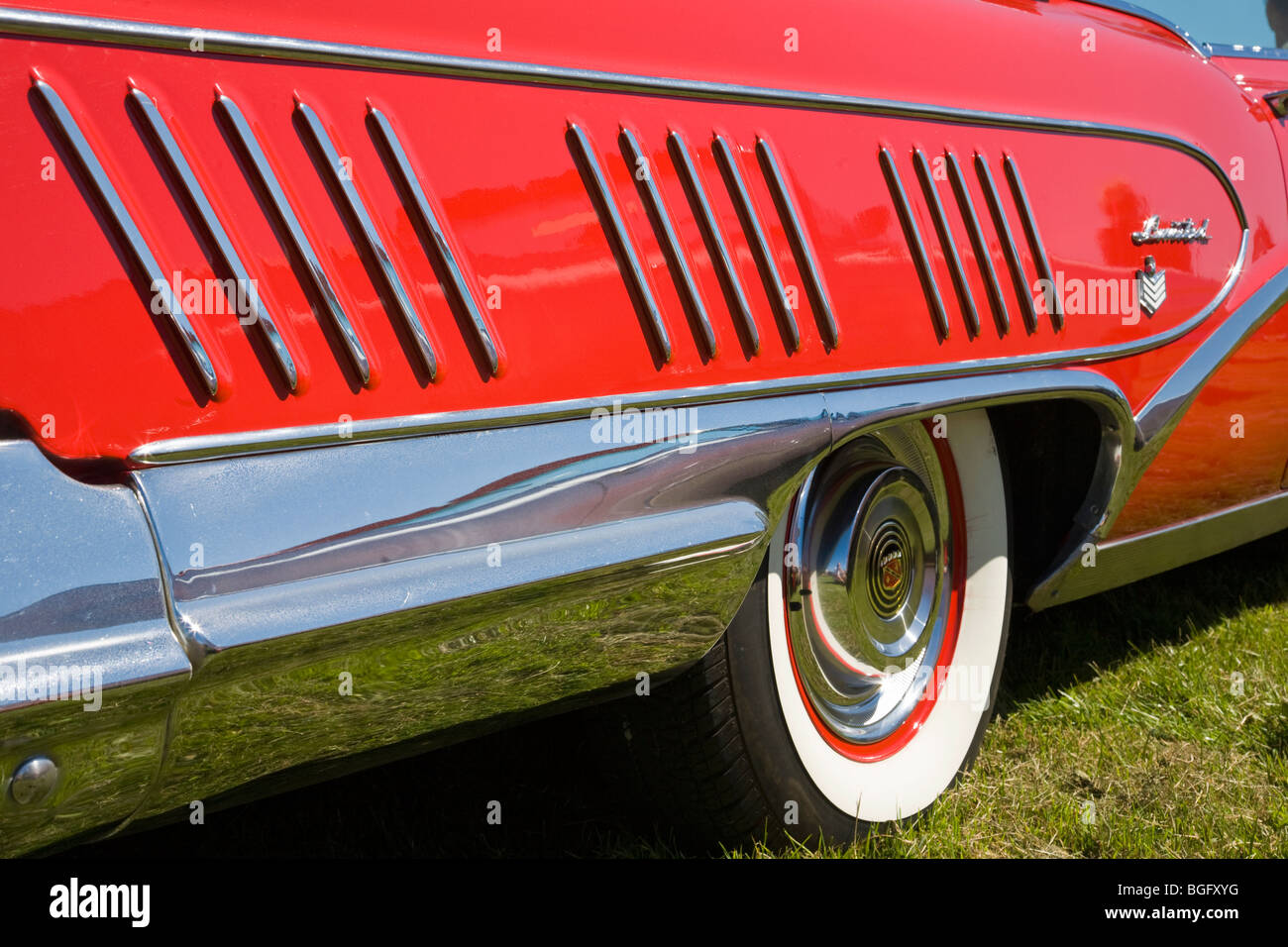Side view at a old american car - Stock Image
