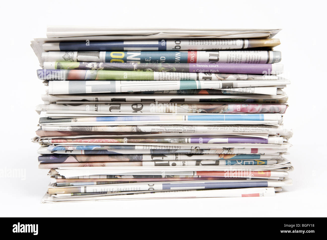 stack of newspapers cut out stock images & pictures - alamy