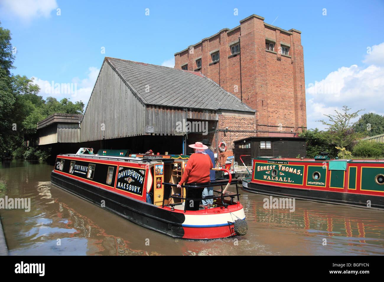 Cadbury's Wharf at Knighton, Staffordshire on the Shropshire Union Canal - Stock Image