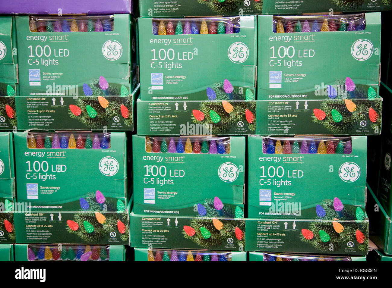 stack of general electric brand energy smart energy efficient led holiday lights at costco - Costco Led Christmas Lights