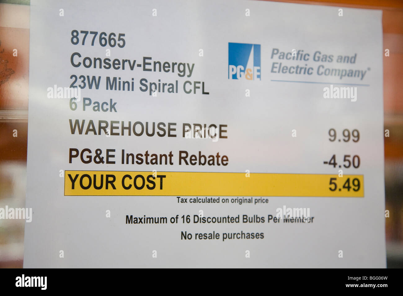 Close Up Of Sign By Pacific Gas And Electric Company (PGu0026E) Who Provides  Instant Rebate On Energy Star Rated LED Light Set Design Ideas