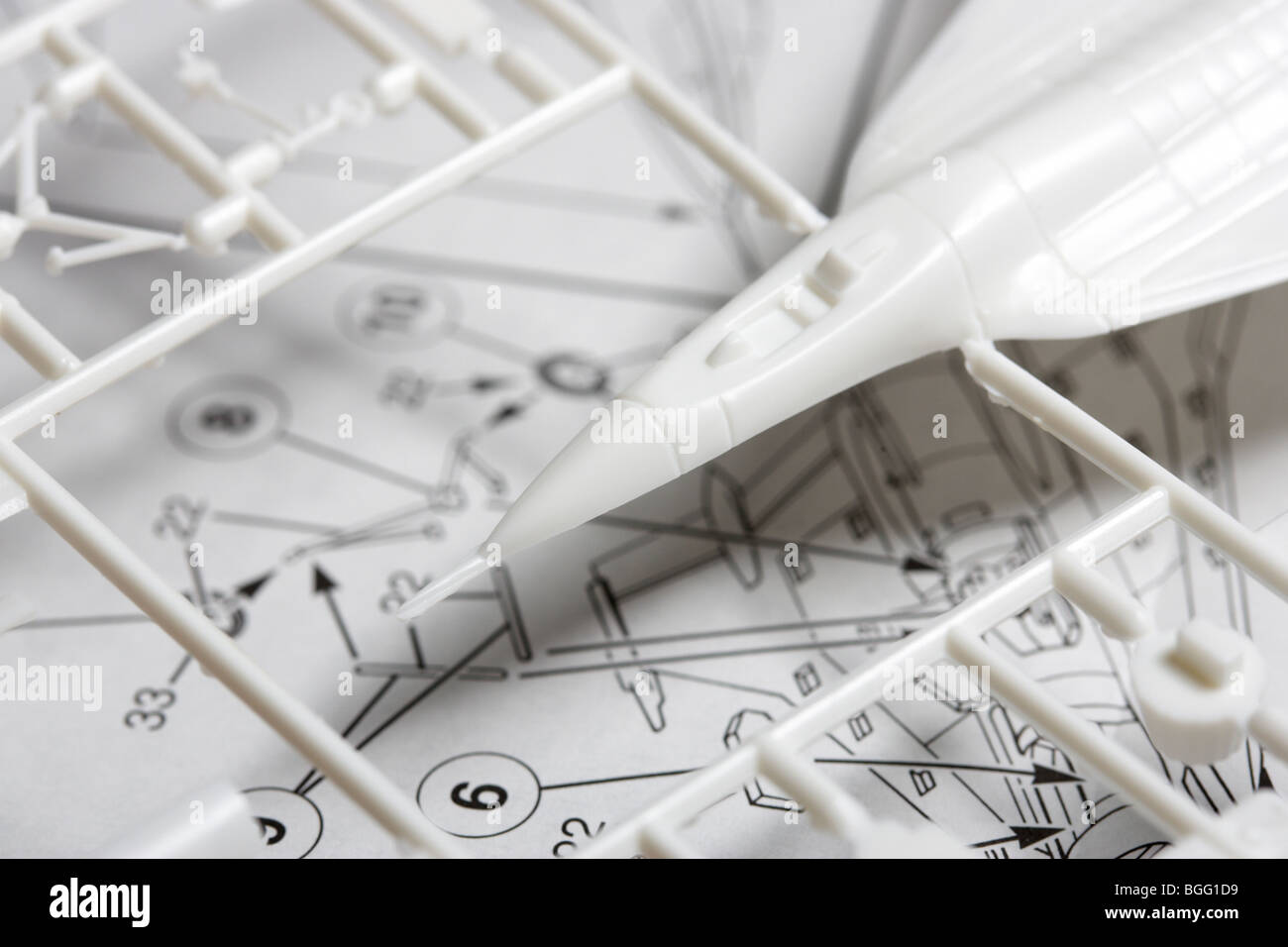 toy plane construction kit with instructions - Stock Image