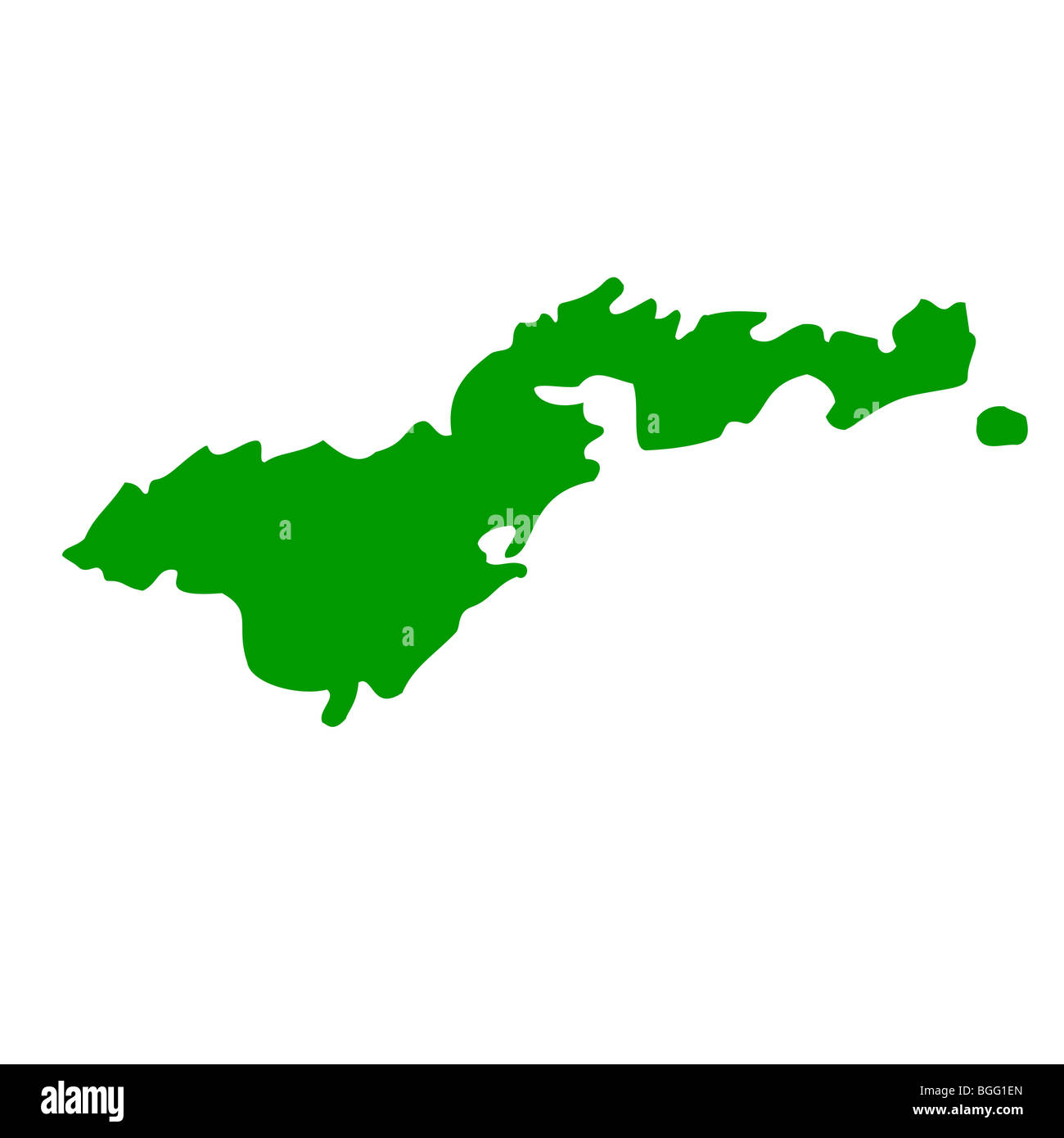 map of american samoa isolated on white background