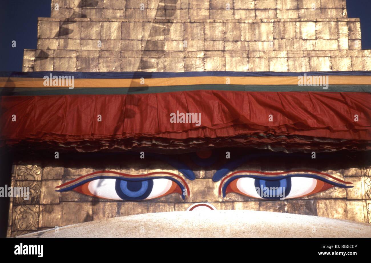 Swayambhunath Buddhist Stupa, Katmandu Valley, Kathmandu District, Nepal - Stock Image