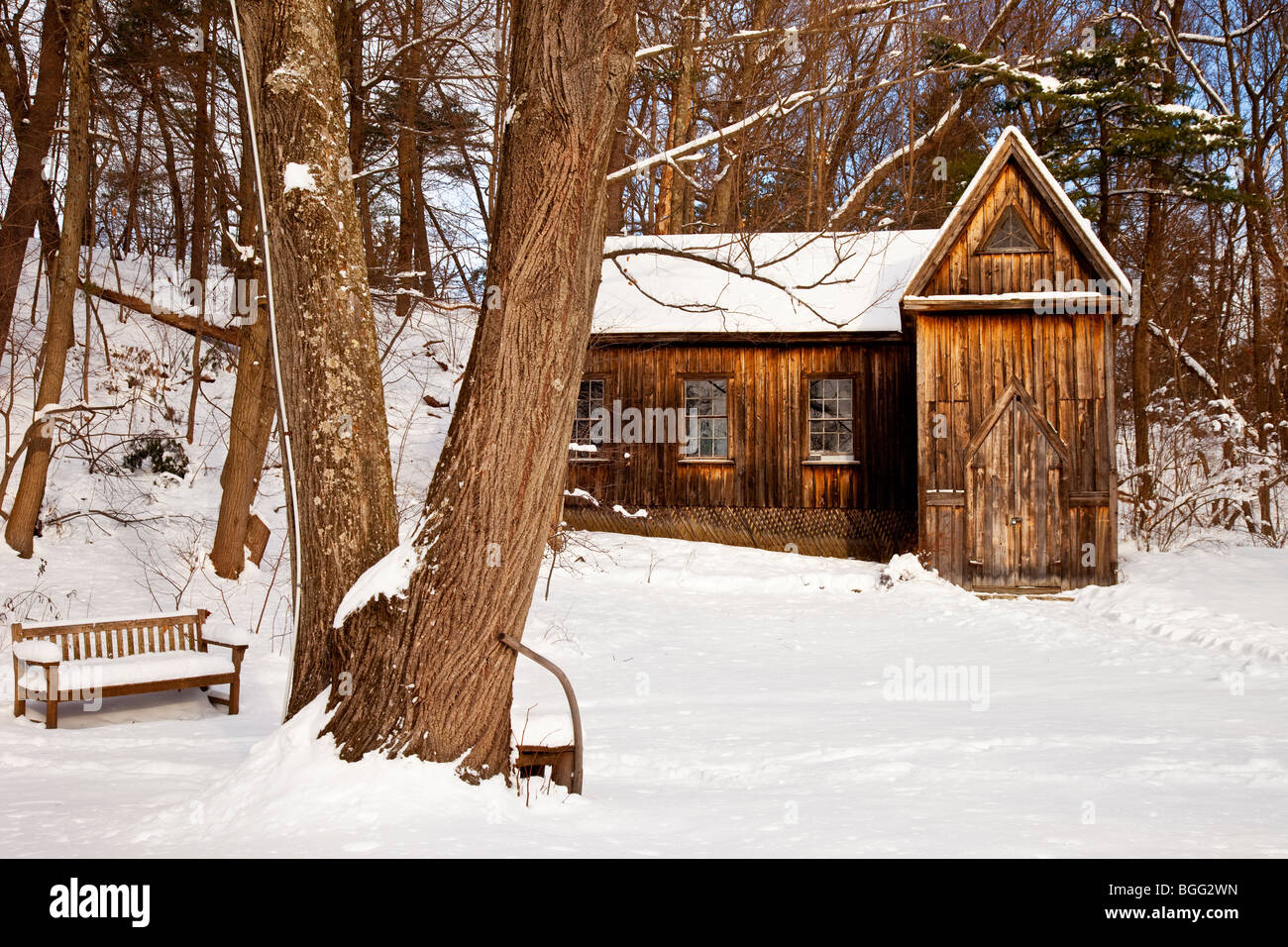 Winter at the Concord School of Philosophy - Concord Massachusetts USA - Stock Image