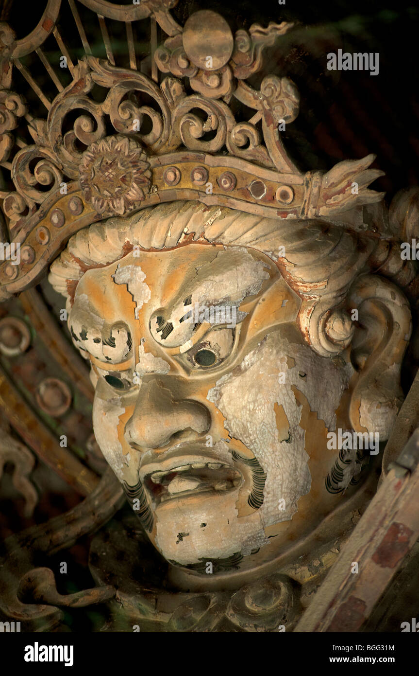 Temple Guardian statue, Todaiji, Nara, Japan - Stock Image