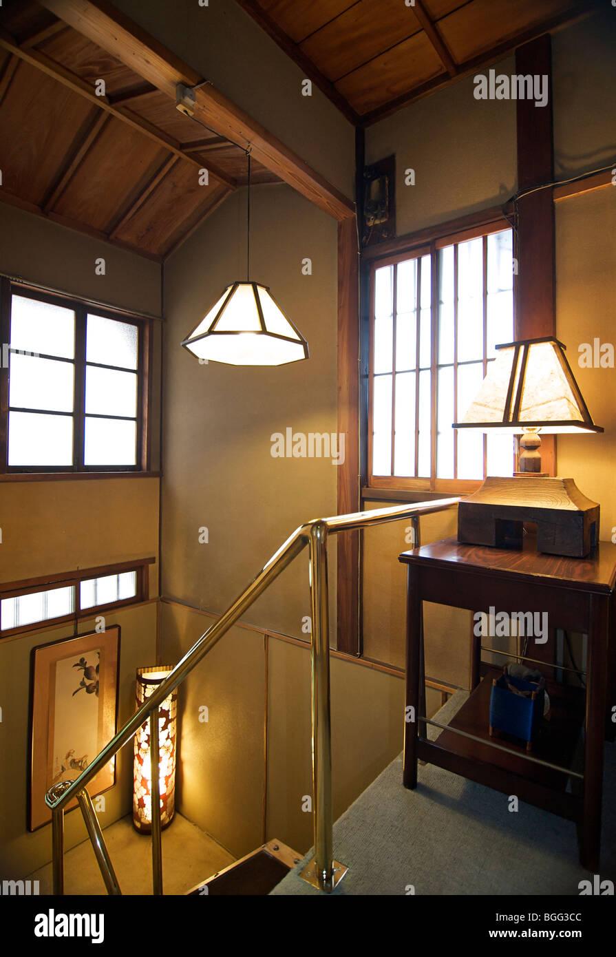 Ishihara ryokan. Kyoto, Japan. Traditional Japanese style guest house. - Stock Image