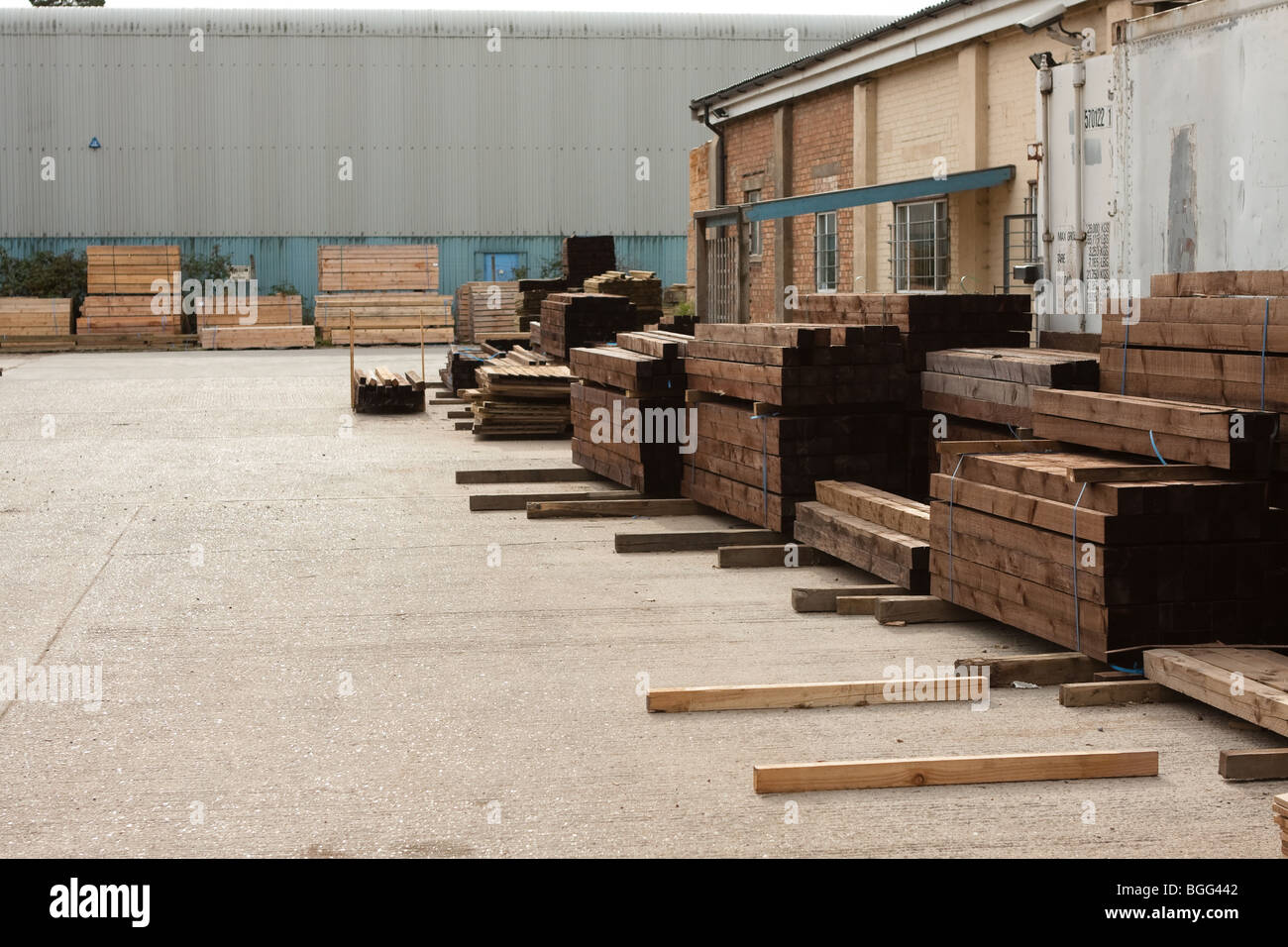 Timber yard, UK - Stock Image