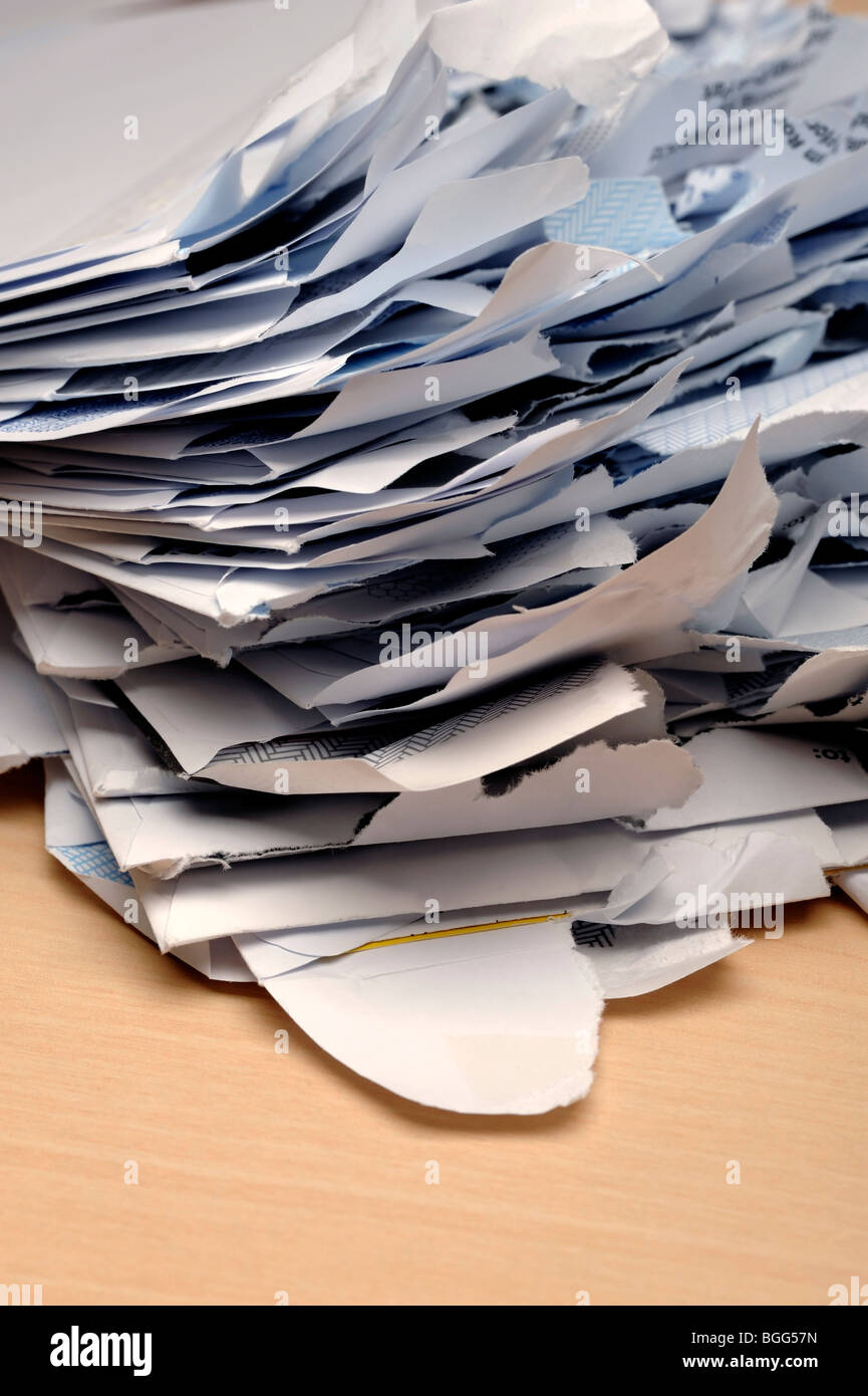 Opened mail envelopes - Stock Image