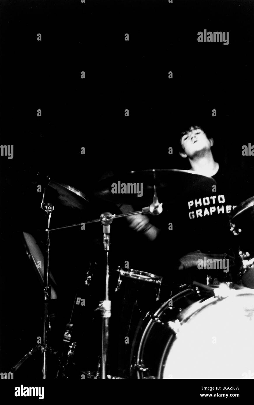 A drummer drumming - Stock Image