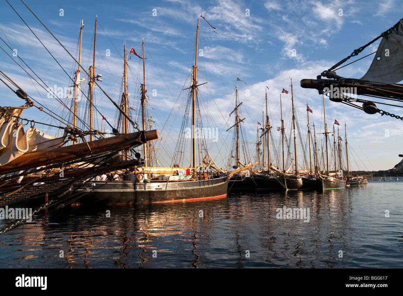 old sailing ships at faaborg harbor denmark stock photo 27400835