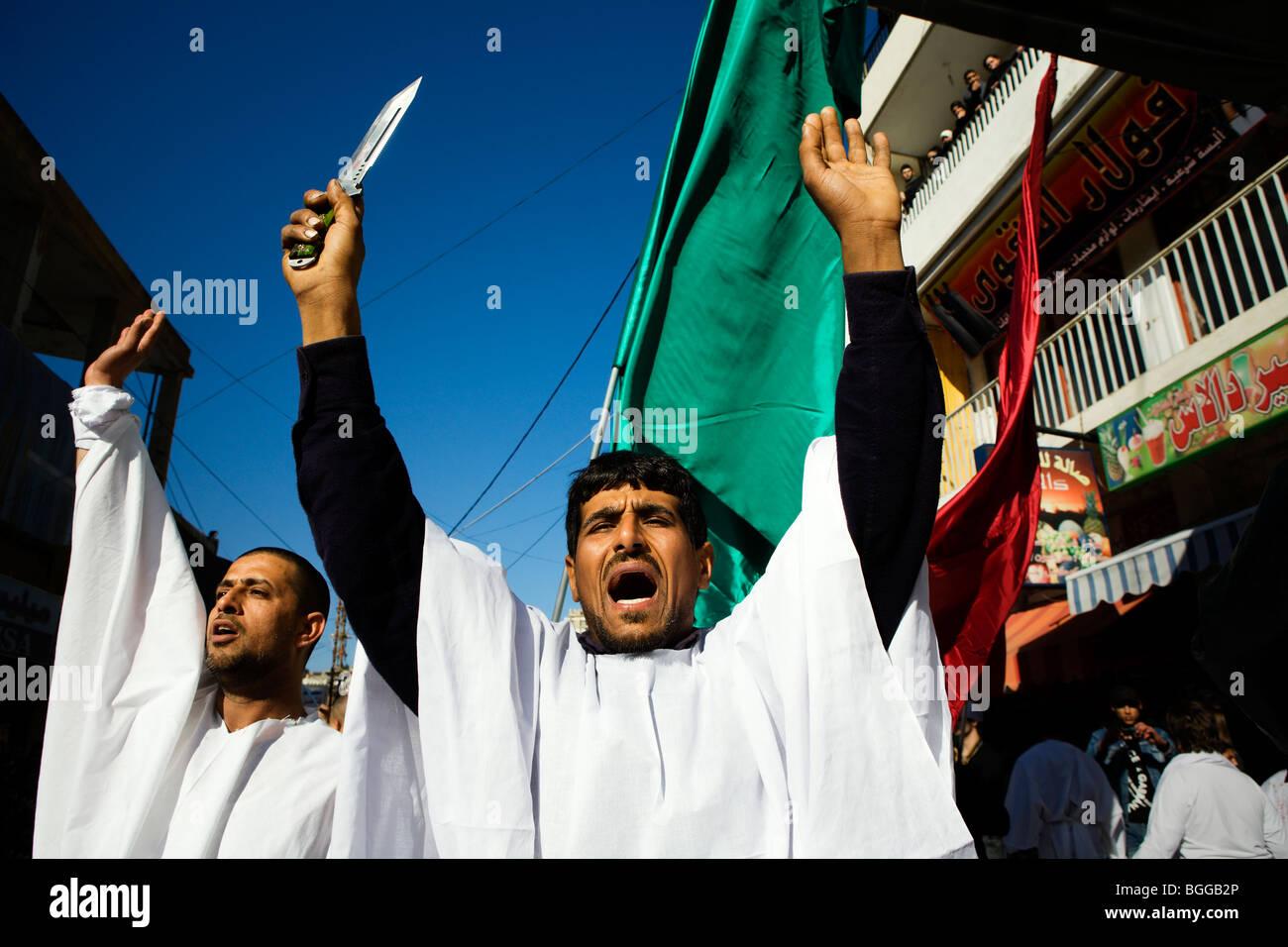 Day of Ashura in Nabatiyeh, southern Lebanon. - Stock Image