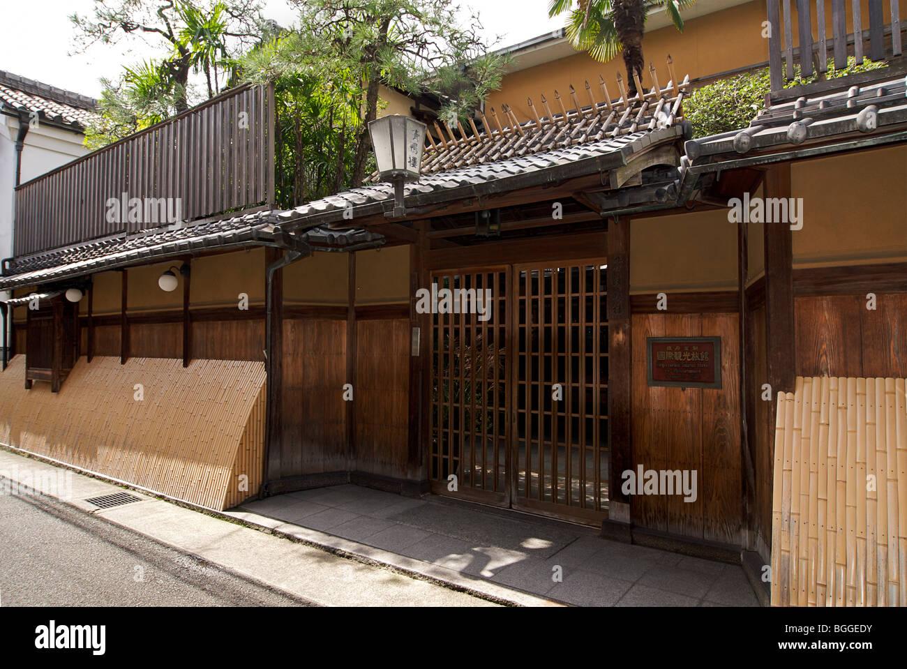 Seikoro Inn. Japanese ryokan. Kyoto, Japan - Stock Image