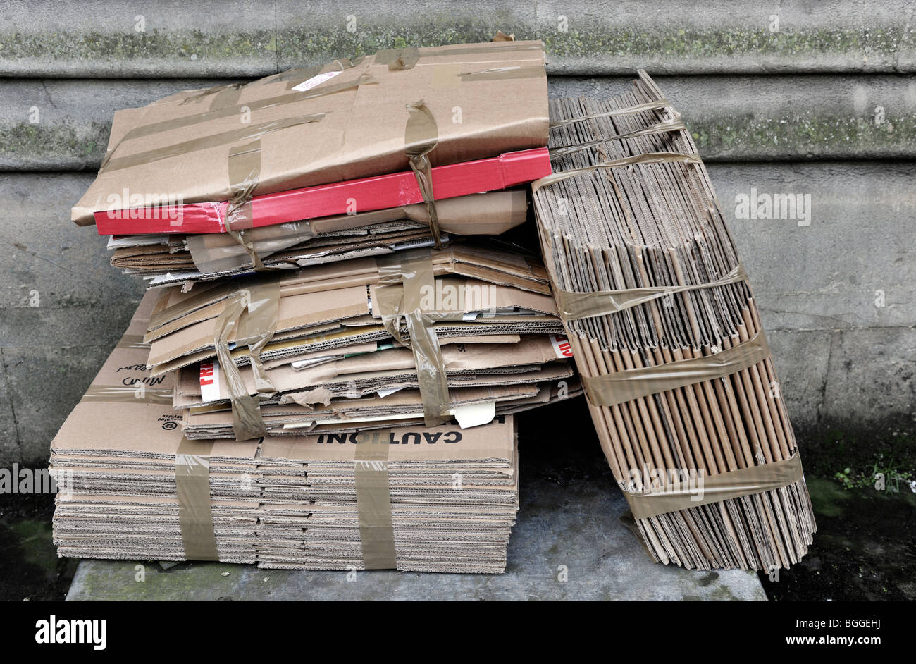 cardboard box recycling - Stock Image