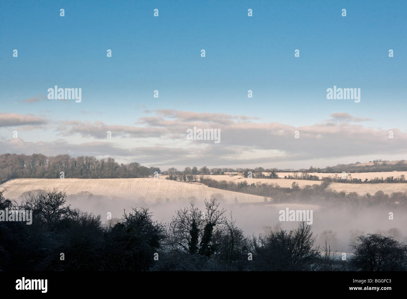 winter countryside - Stock Image