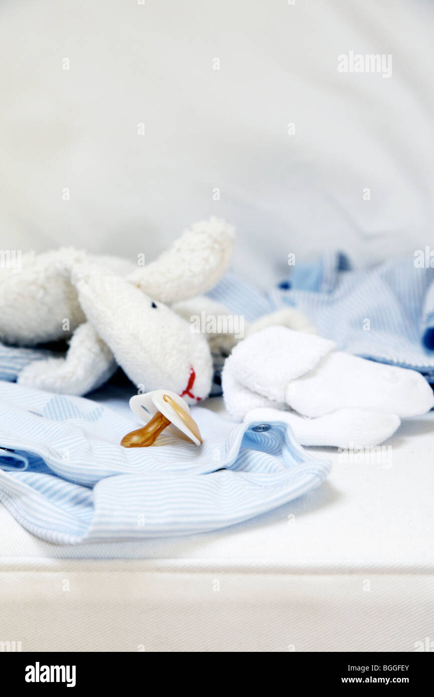 Baby articles, close-up - Stock Image