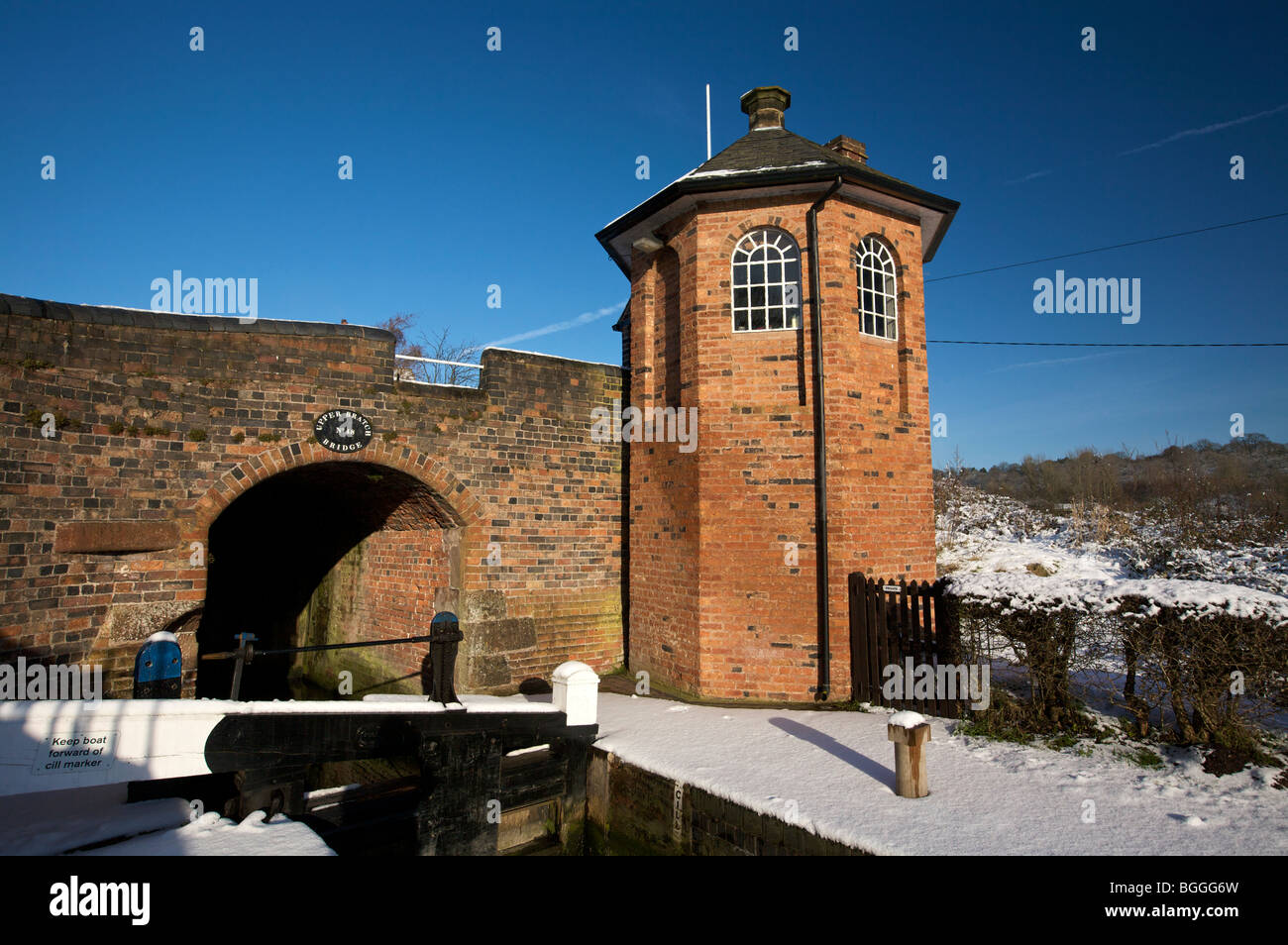 Bratch Locks Toll House Staffordshire and Worcestershire Canal Wombourne South Staffordshire England UK - Stock Image