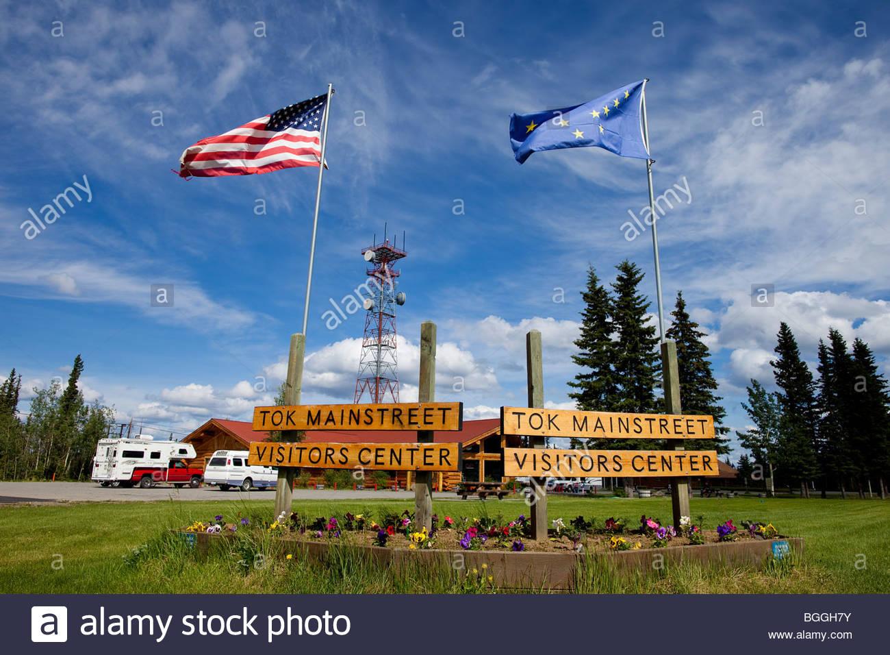 Alaska, Tok. Visitor's Center. - Stock Image