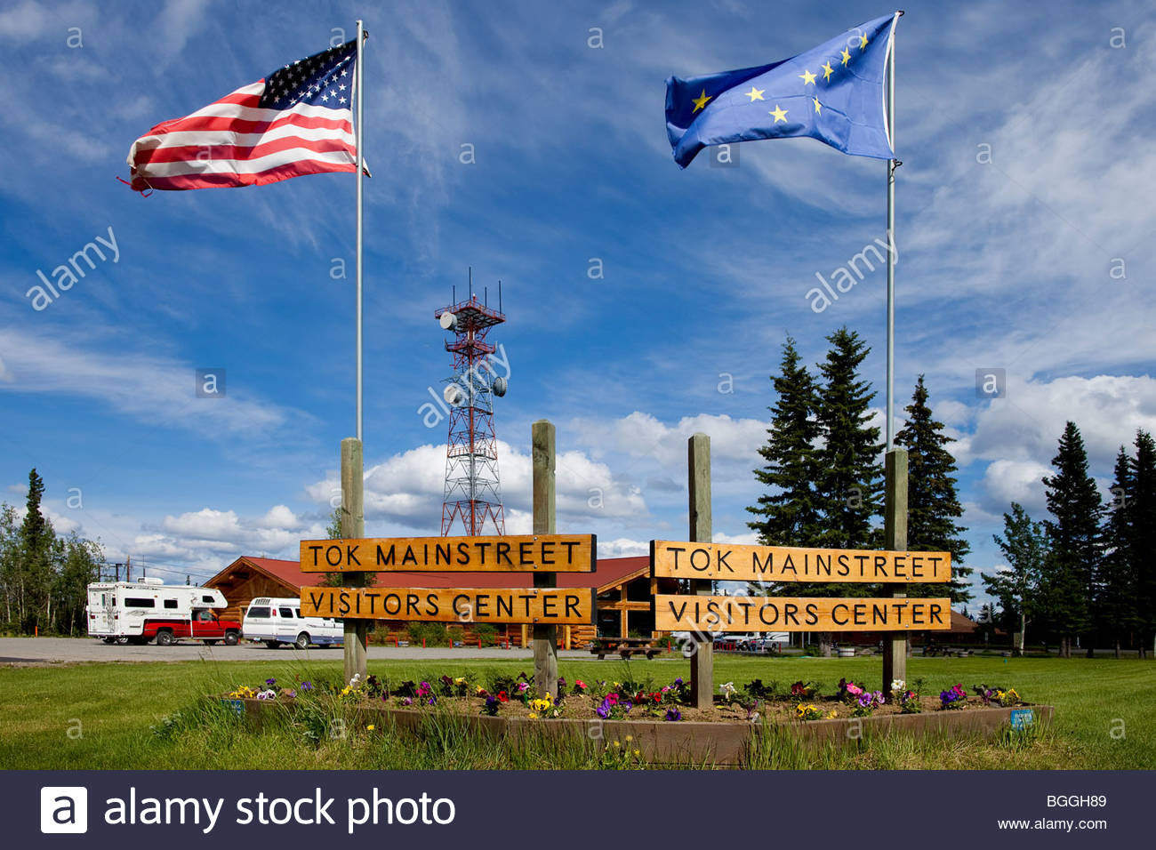 Alaska, Tok. Visitor's Center. DM - Stock Image