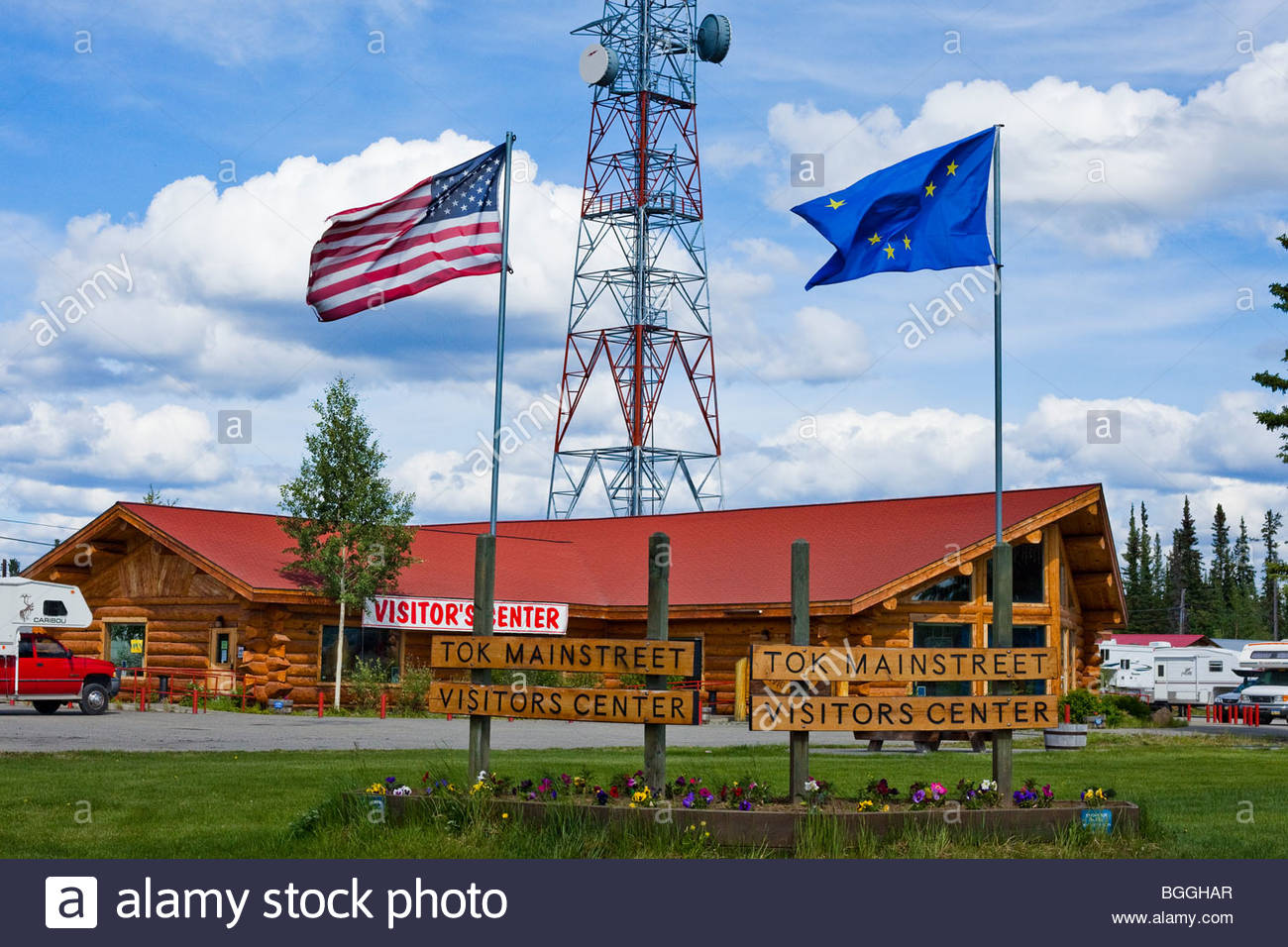 Alaska, Tok. Visitor's Center. Stock Photo