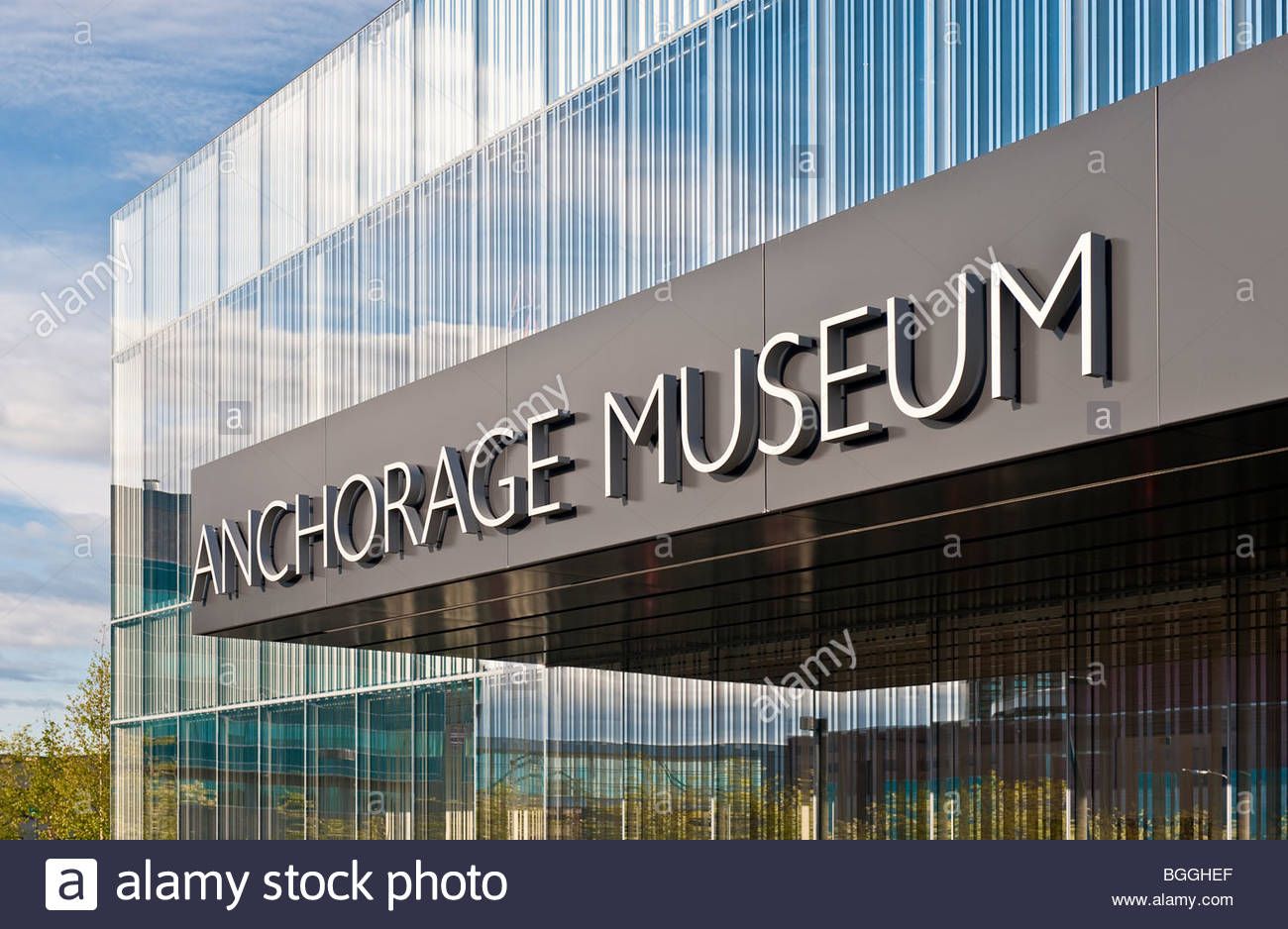 Alaska, Anchorage. The new Anchorage Museum expansion. - Stock Image