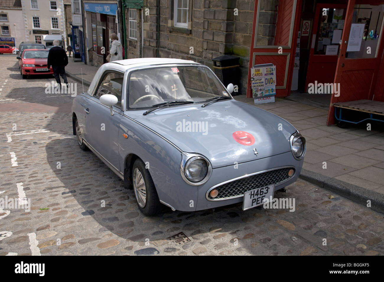 Richmond United Kingdom England GB Nissan Figaro retro styled car auto automobile - Stock Image