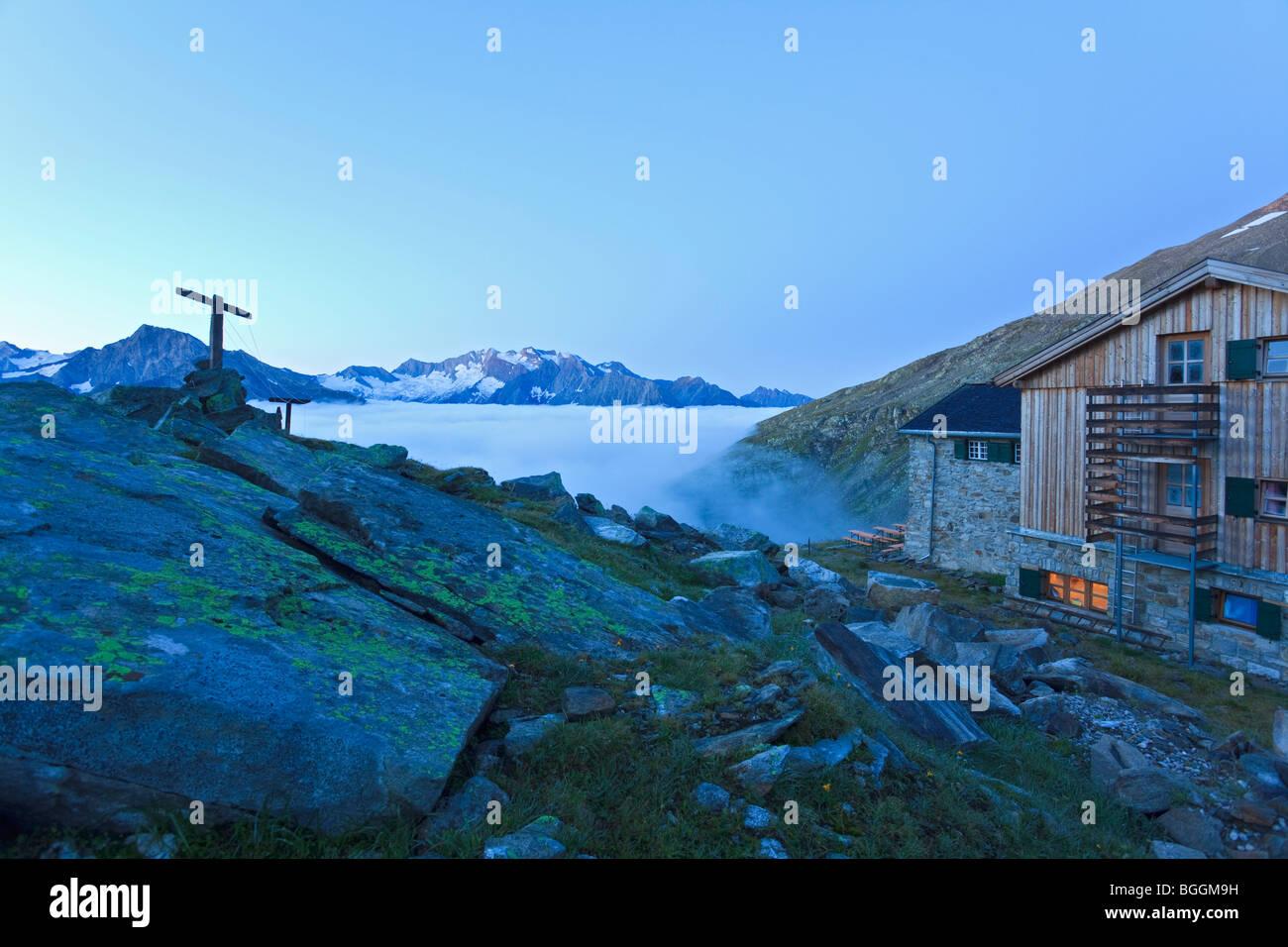 Refuge in Tyrol, Austria - Stock Image