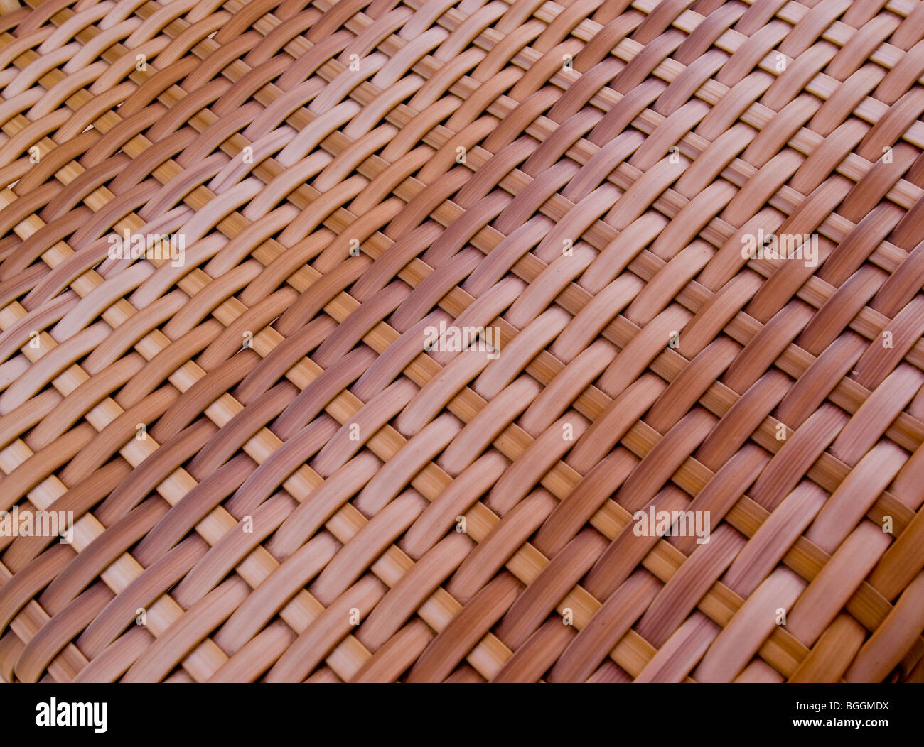 Woven wood on back of chair - Stock Image