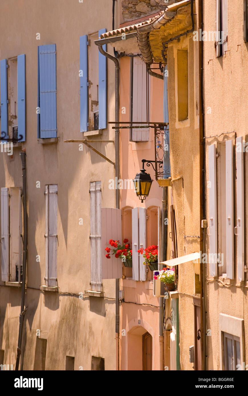 Facade of Buildings, Nyons, Provence, France,Europe - Stock Image