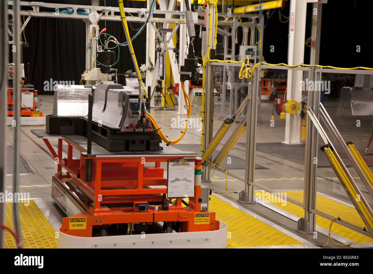 General Motors manufacturing plant for the battery pack for the Chevrolet Volt electric car - Stock Image