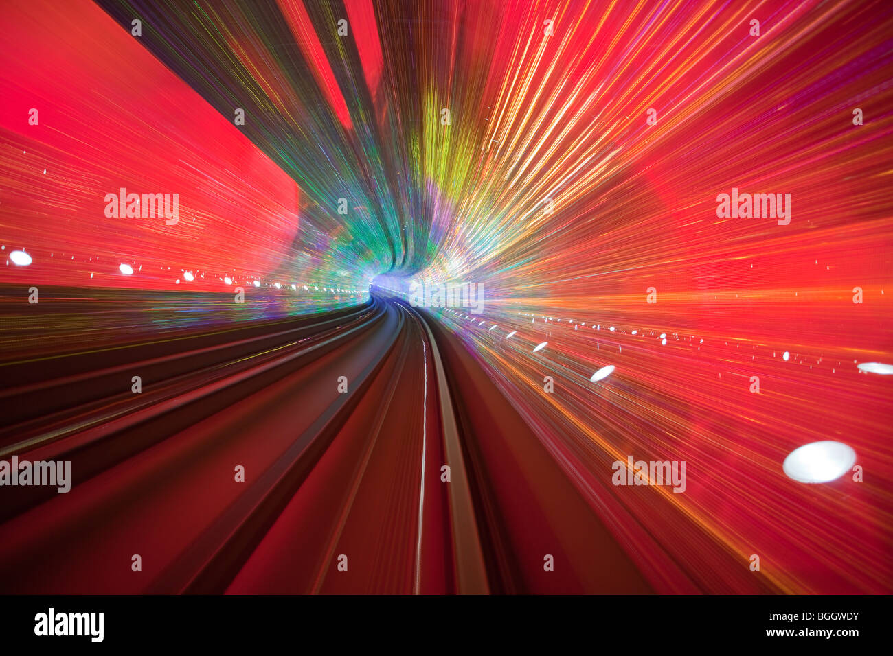 abstract background in a tunnel - Stock Image
