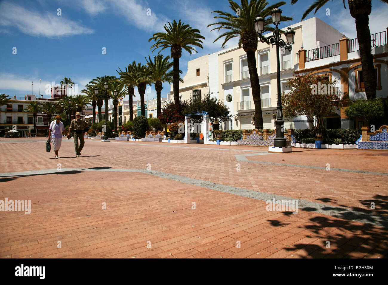 Plaza de la Ribera en Ayamonte, Huelva, Andalucía, España Plaza de la Ribera in Ayamonte, Huelva, Andalusia, - Stock Image