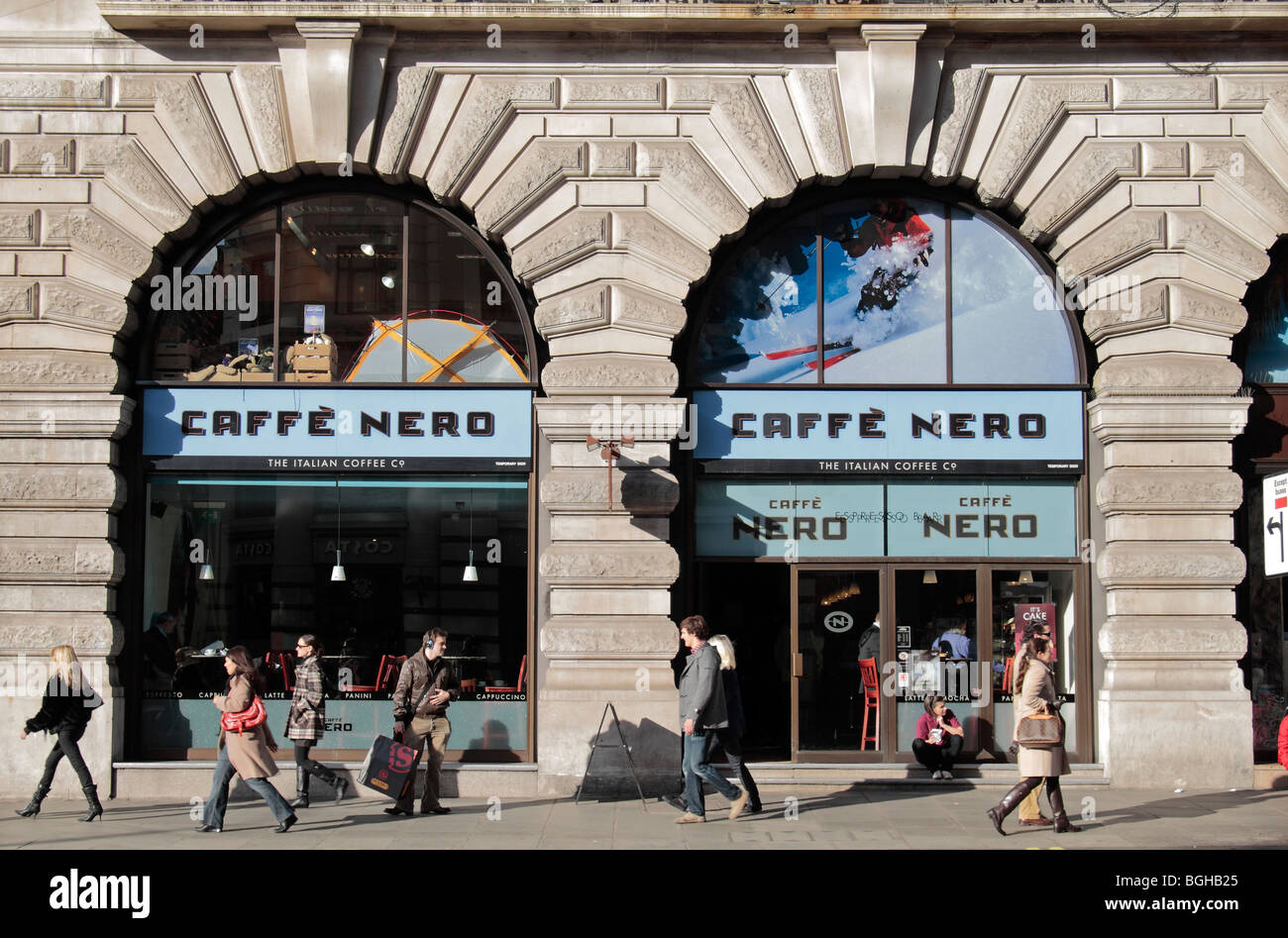 The Shop Front Of Caffe Nero Coffee Shop Piccadilly London