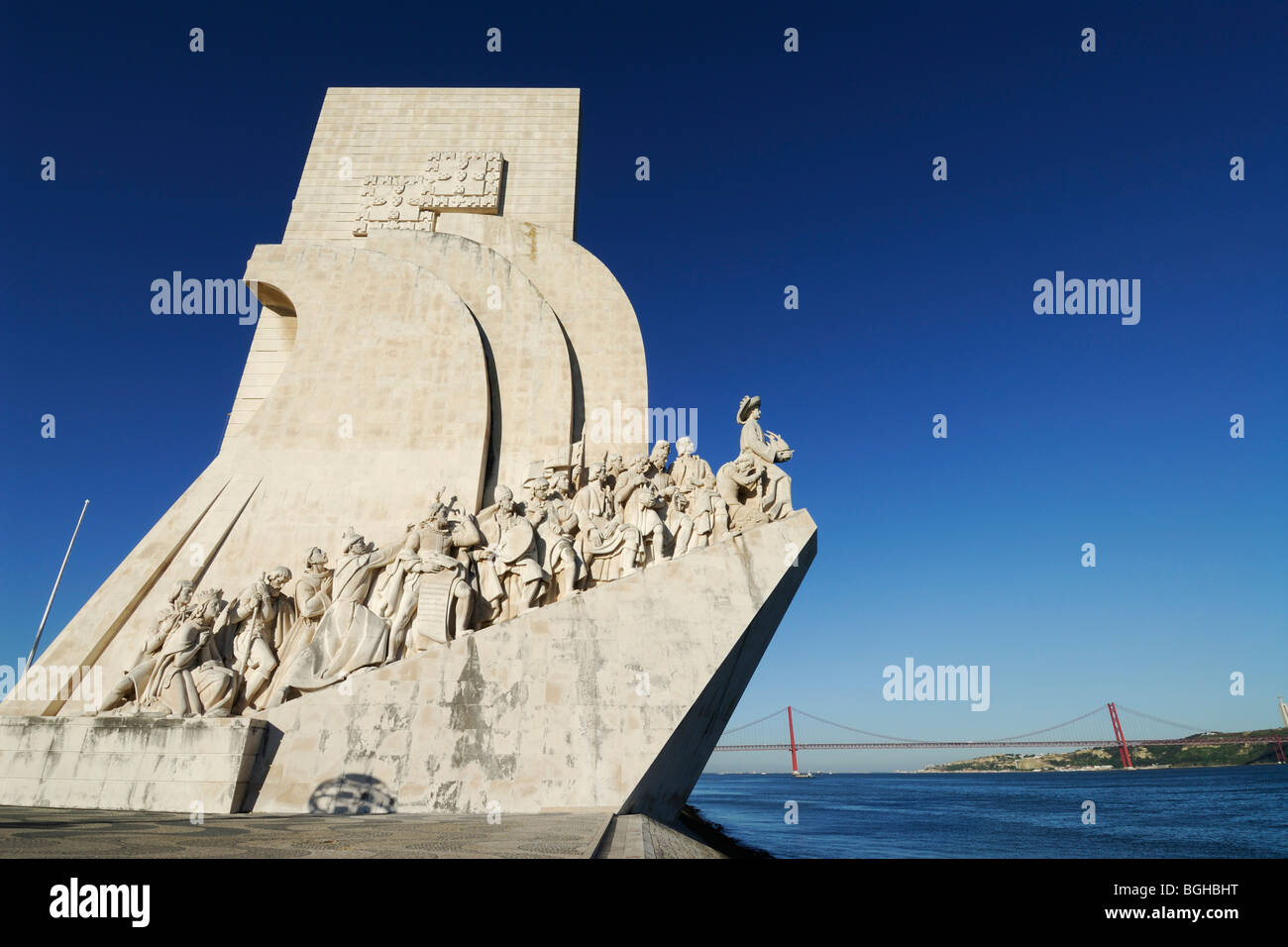 Lisbon. Portugal. Monument to the Discoveries Padrao dos Descobrimentos in Belem. - Stock Image