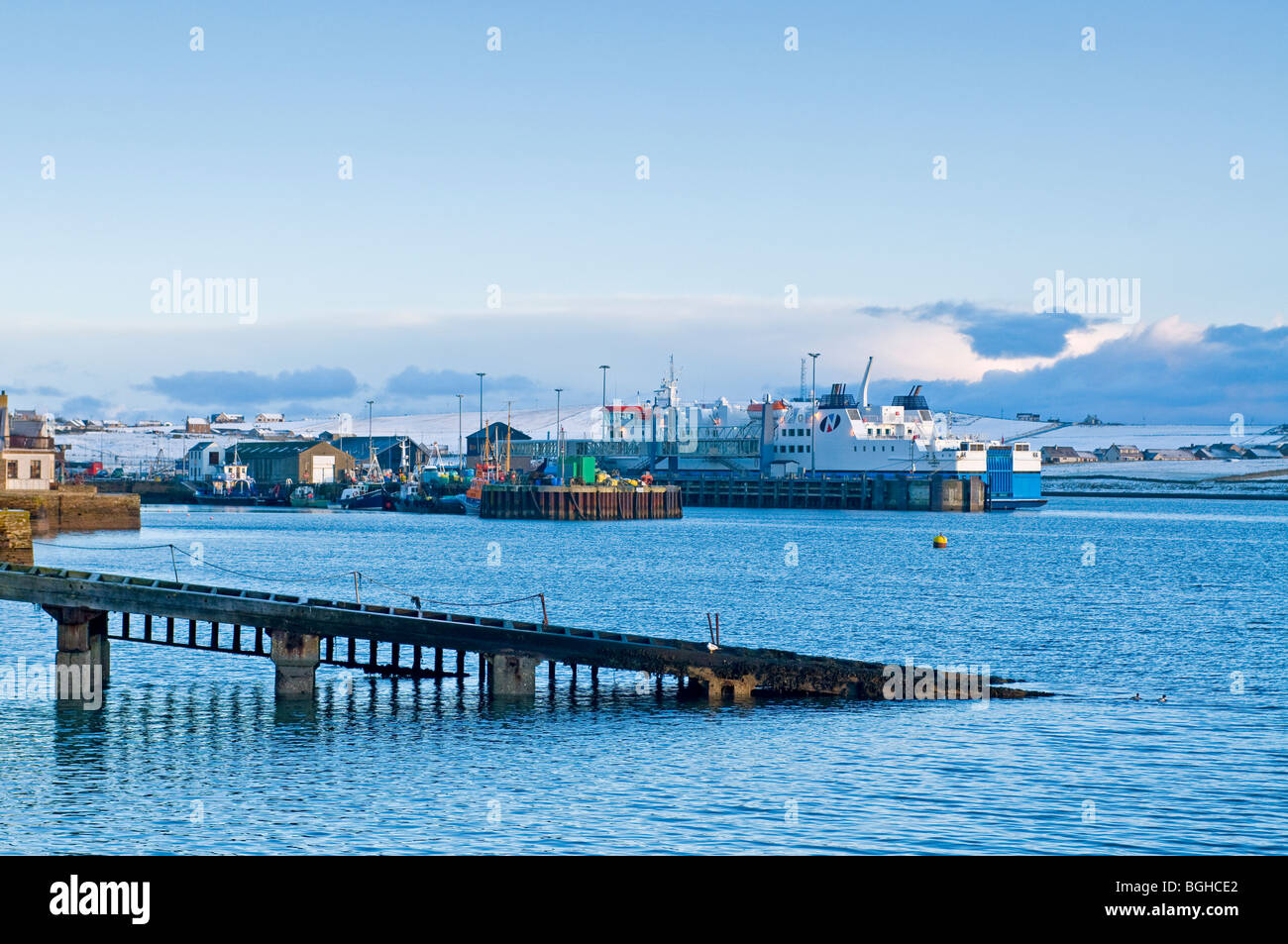 The old lifeboat slipway on the seafront at Stromness Mainland Orkney, Highland Region Scotland  SCO 5817 Stock Photo