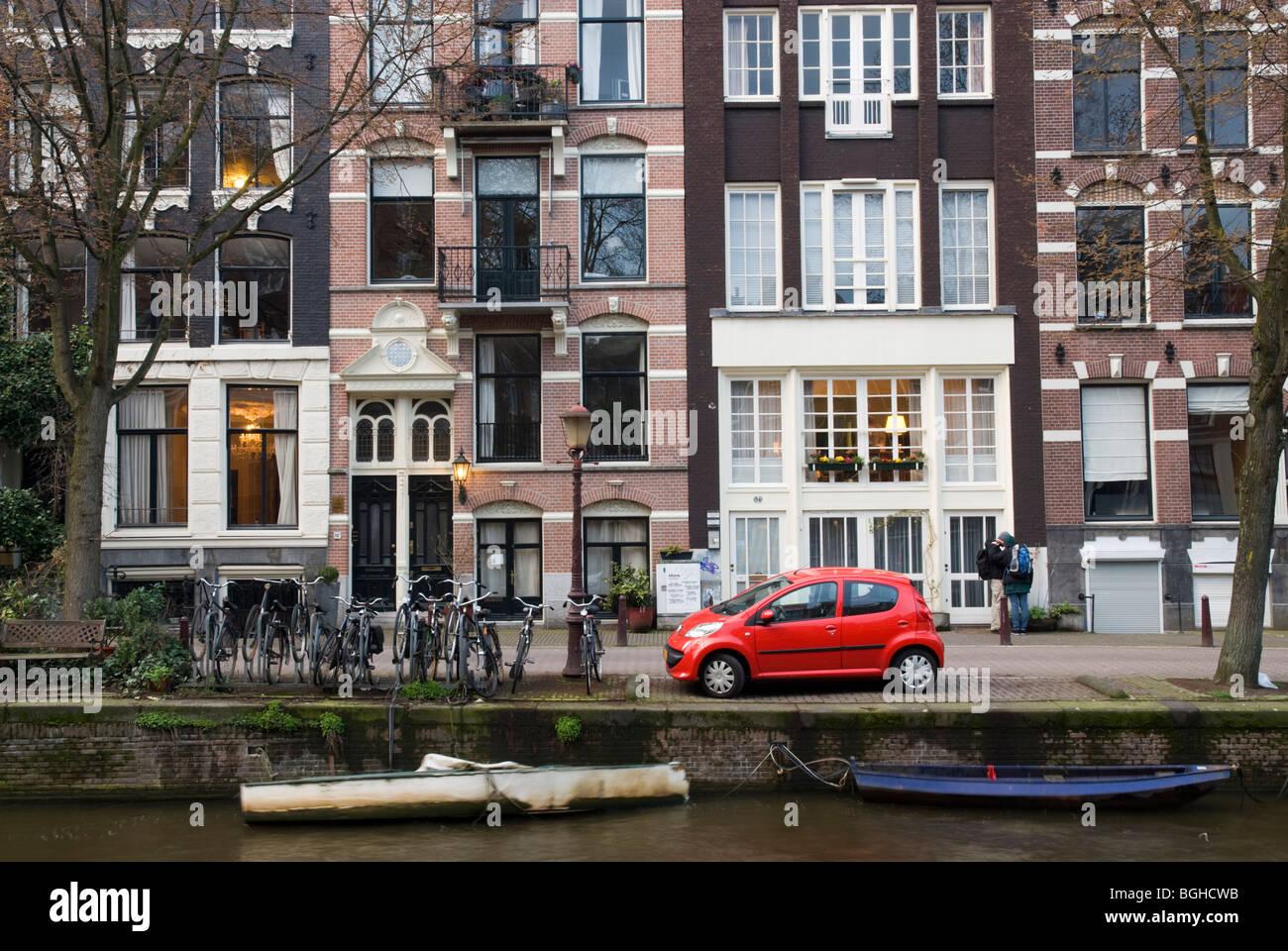 Leidsegracht, Amsterdam, Noord-Holland, Netherlands - Stock Image