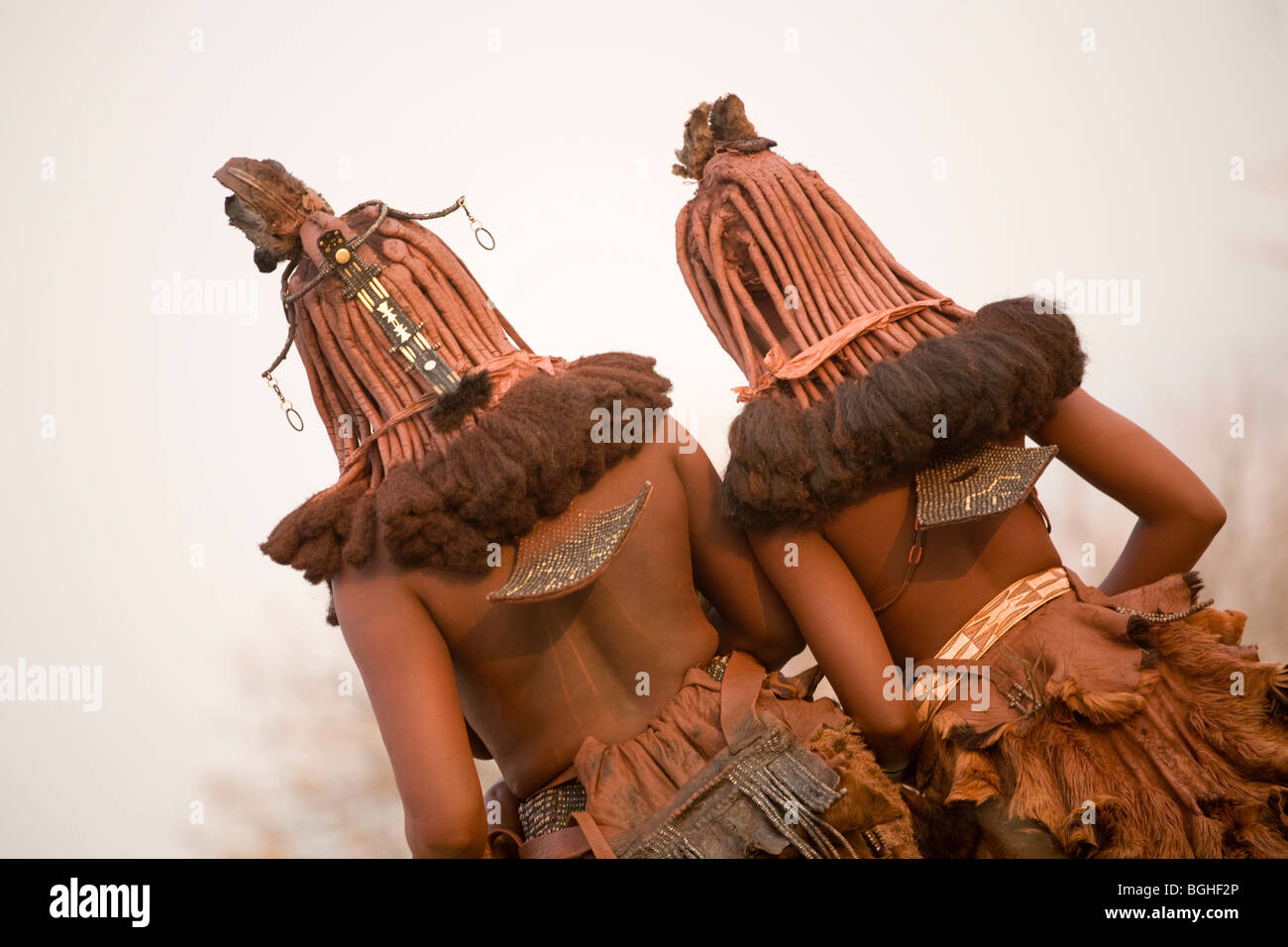 Young girls of the Himba tribe, Opuwo, Namibia - Stock Image