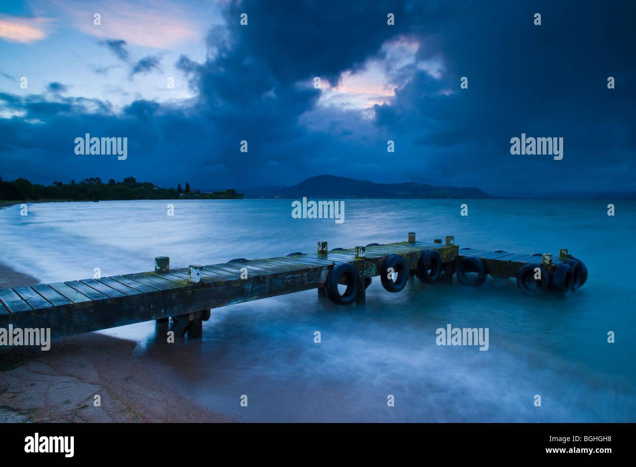 Lake Rotorua, North Island, New Zealand - Stock Image
